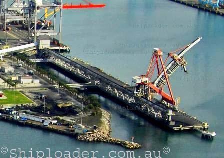 Shiploader aerial photograph of Krupp shiploader