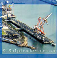 8000 Metric Tonne Per Hour LAXT shiploader Long Aerial View)